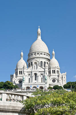 Basilica With Dome Photograph - Sacre Coeur I by Fabrizio Ruggeri