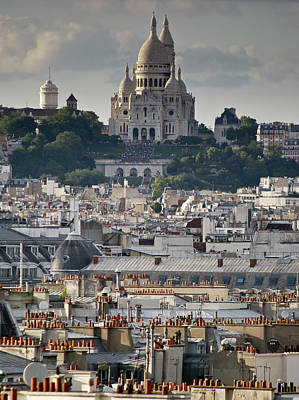 Photograph - Sacre Coeur Rooftops by Gary Eason