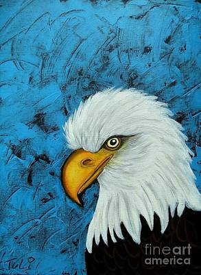 Painting - Sacred Bald Eagle by Claudia Tuli