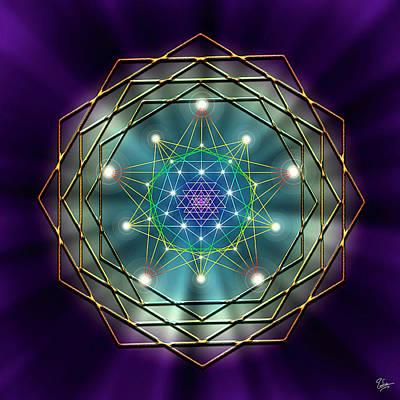 Digital Art - Sacred Geometry 11 by Endre Balogh