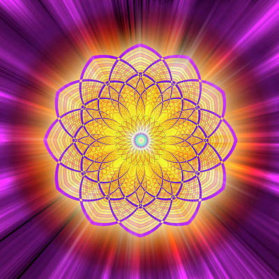 Digital Art - Sacred Geometry 110 by Endre Balogh