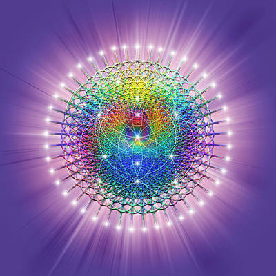 Digital Art - Sacred Geometry 114 by Endre Balogh