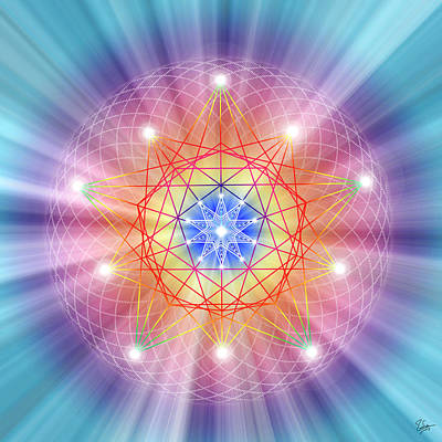 Digital Art - Sacred Geometry 14 by Endre Balogh