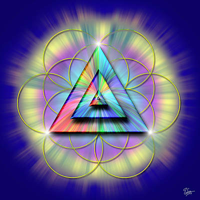 Digital Art - Sacred Geometry 16 by Endre Balogh