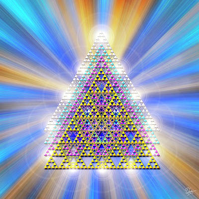 Digital Art - Sacred Geometry 17 by Endre Balogh