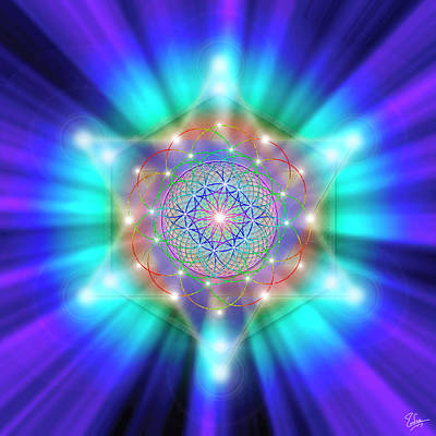 Digital Art - Sacred Geometry 18 by Endre Balogh