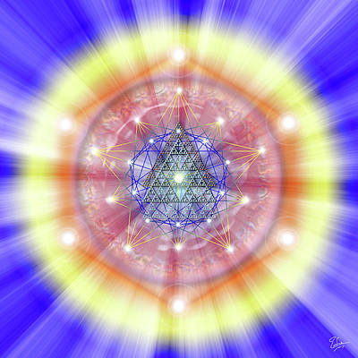 Digital Art - Sacred Geometry 24 by Endre Balogh