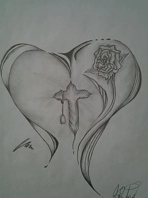 Sacred Heart Art Print by Jason Rodriguez