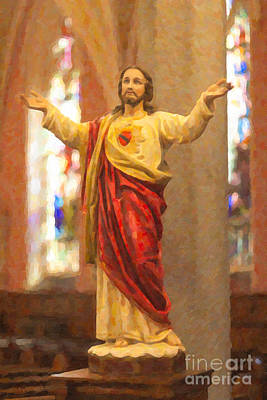 Photograph - Sacred Heart Of Jesus by Clarence Holmes