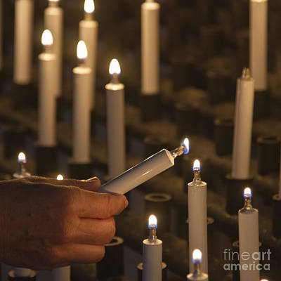 Sacrificial Candles 3 Print by Heiko Koehrer-Wagner