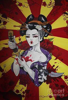 Sacrificial Painting - Sacrificial Geisha by Laura Mancini