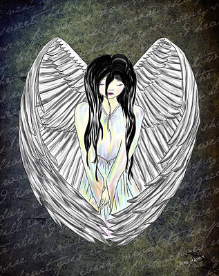 Sad Angel Art Print