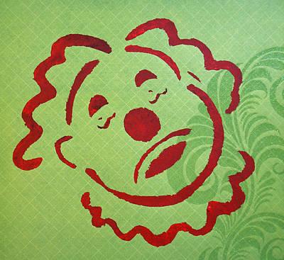 Sad Clown On Green Original by Patricia Arroyo