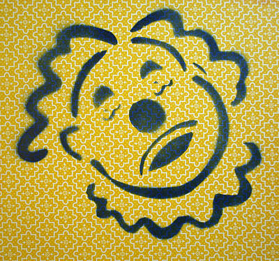 Sad Clown On Yellow Original
