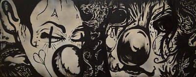 Sad Clowns Art Print by Travis Burns