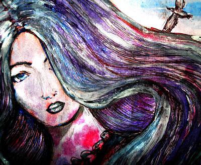 Sad Woman Eyes Art Print by Vesna Disic
