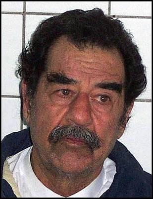 Saddam Hussein Shortly Art Print