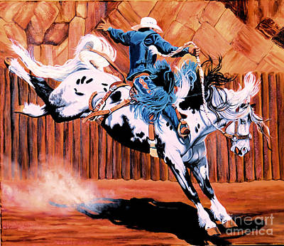 Painting - Saddle Bronc by Cheryl Poland