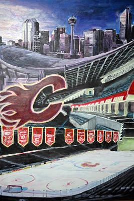 Saddledome- Calgary Flames Print by Chris Ripley
