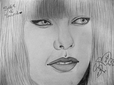 Taylor Swift Drawing - Safe And Sound by Sarah Badr