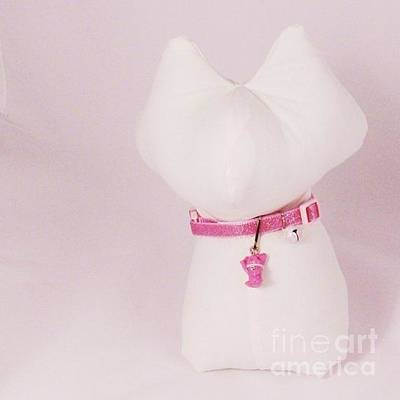Jewelry - Safety Collar With Hand-sculpted Cat Charm In Dusty Pink by Pet Serrano