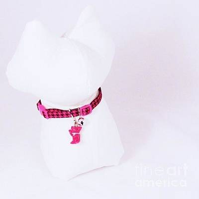 Jewelry - Safety Collar With Hand-sculpted Cat Charm In Hot Pink by Pet Serrano