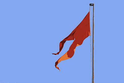 Saffron Flag Print by Kantilal Patel
