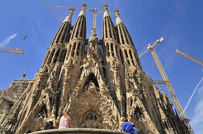 Photograph - Sagrada Familia - Impressive Church From Gaudi In Barcelona by Matthias Hauser