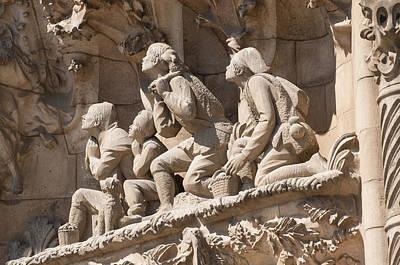 Sagrada Familia Barcelona Nativity Facade Detail Art Print by Matthias Hauser