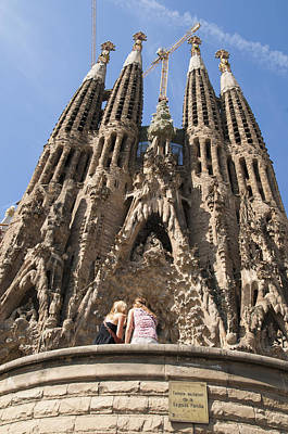 Photograph - Sagrada Familia Church - Barcelona Spain by Matthias Hauser