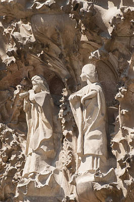 Sagrada Familia Nativity Facade Detail Art Print by Matthias Hauser