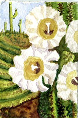 Painting - Saguaro Spring by Eric Samuelson