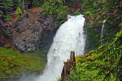 Photograph - Sahali Falls Oregon by Tyra  OBryant