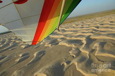 Sahara Desert Seen From Hang Glider Print by Sami Sarkis