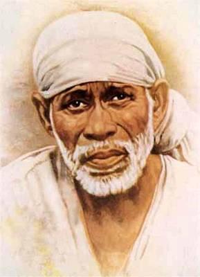Baba Portrait Painting - Sai Kripa by Mnaeesh Kumar