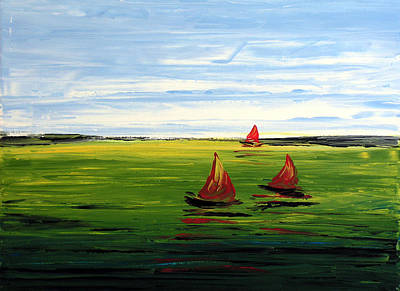 Summer Fun Painting - Sail Away By Amy Giacomelli by Amy Giacomelli