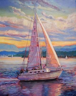 Sail Away Art Print by Margaret  Plumb