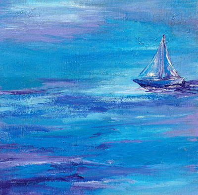 Waterscape Painting - Sail Away by Sandy Tracey