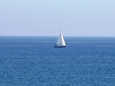 Photograph - Sail Boat Ocean View Costa Del Sol Spain by John Shiron
