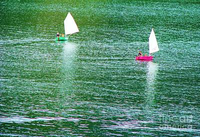 Photograph - Sail Boat Reflections by Michele Penner