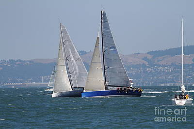 Sail Boats On The San Francisco Bay - 7d18323 Art Print by Wingsdomain Art and Photography