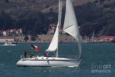Sail Boats On The San Francisco Bay - 7d18326 Art Print by Wingsdomain Art and Photography