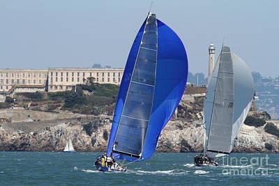 Sail Boats On The San Francisco Bay - 7d18355 Art Print