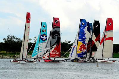 Photograph - Sail Boats Racing by Chua  ChinLeng