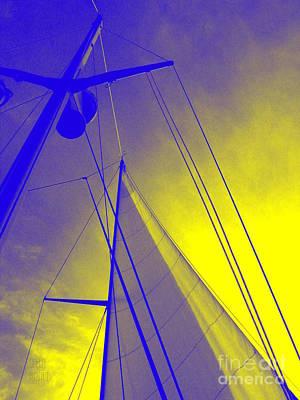 Sail Into Yellow Art Print