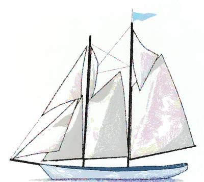 Sailboat  Art Print by Anne Kitzman