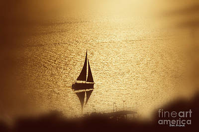 Photograph - Sailboat At Sunset by Dan Friend
