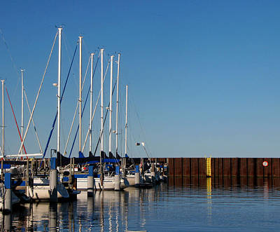 Photograph - Sailboat Docking By Break Water Wall by Ms Judi