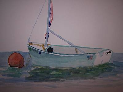Bouys Painting - Sailboat by James Cox