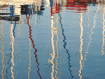 Sailboat Mast Reflection II Art Print